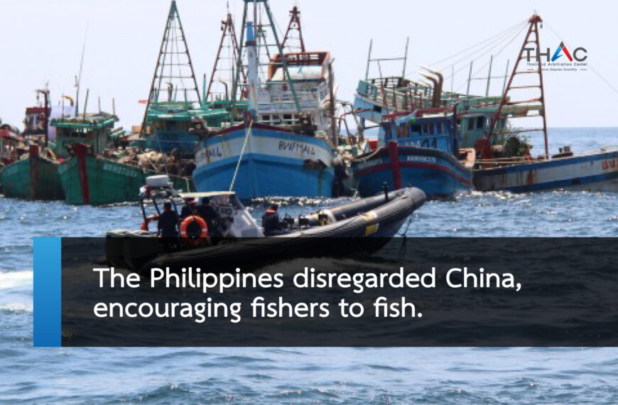 The Philippines disregarded China, encouraging fishers to fish.